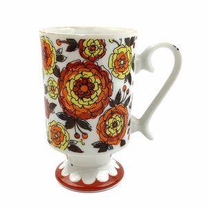 Vtg Smug Mug Retro Mid Century Floral Coffee Cup